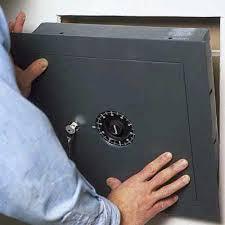 wall safe install
